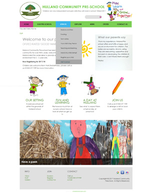 Hulland Community Preschool website