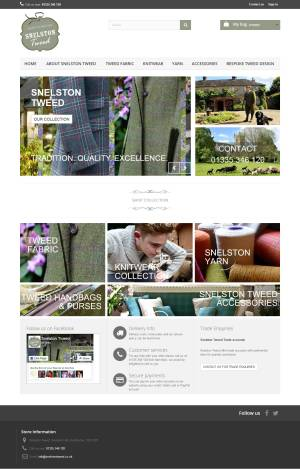 e-commerce website Snelston Tweed